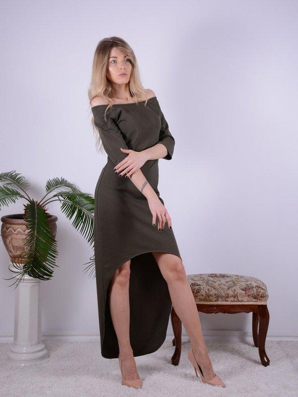 Sukienka KHAKI asymetryczna